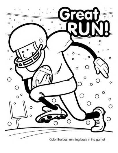 Super bowl football coloring book 10 pages
