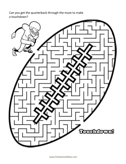 superbowl-football-maze